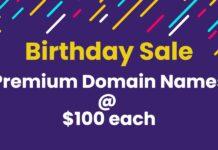 Birthday Domain Names Sale